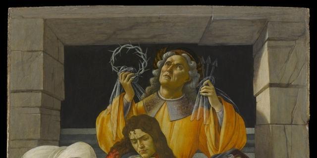 Botticelli. Compianto sul Cristo morto