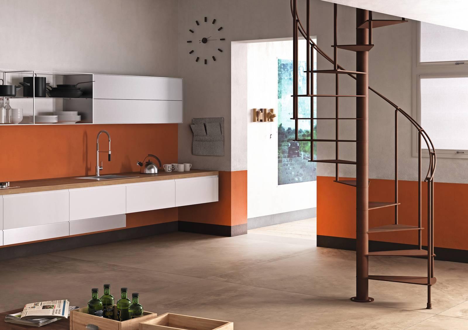 Dimensioni Scale A Chiocciola Quadrate scale interne: materiali, tipologia e dimensioni - cose di casa