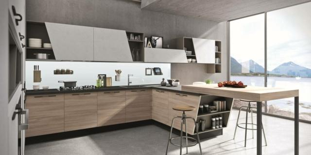 Cucine con bancone per un ambiente contemporaneo e friendly