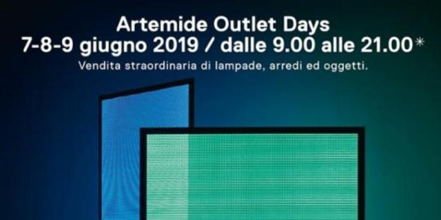 Artemide Outlet Days: un intero weekend di vendita straordinaria