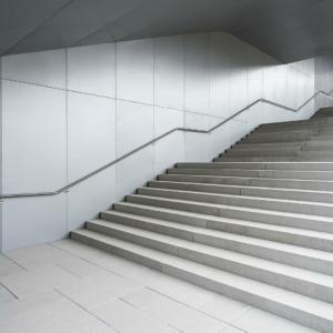 Scala di ingresso alla nuova sede Duka a Bressanone (Bz)