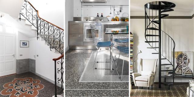 tre rivestimenti in marmo pavimento alla genovese