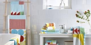 Asciugamani per il bagno, con decori o tinta unita