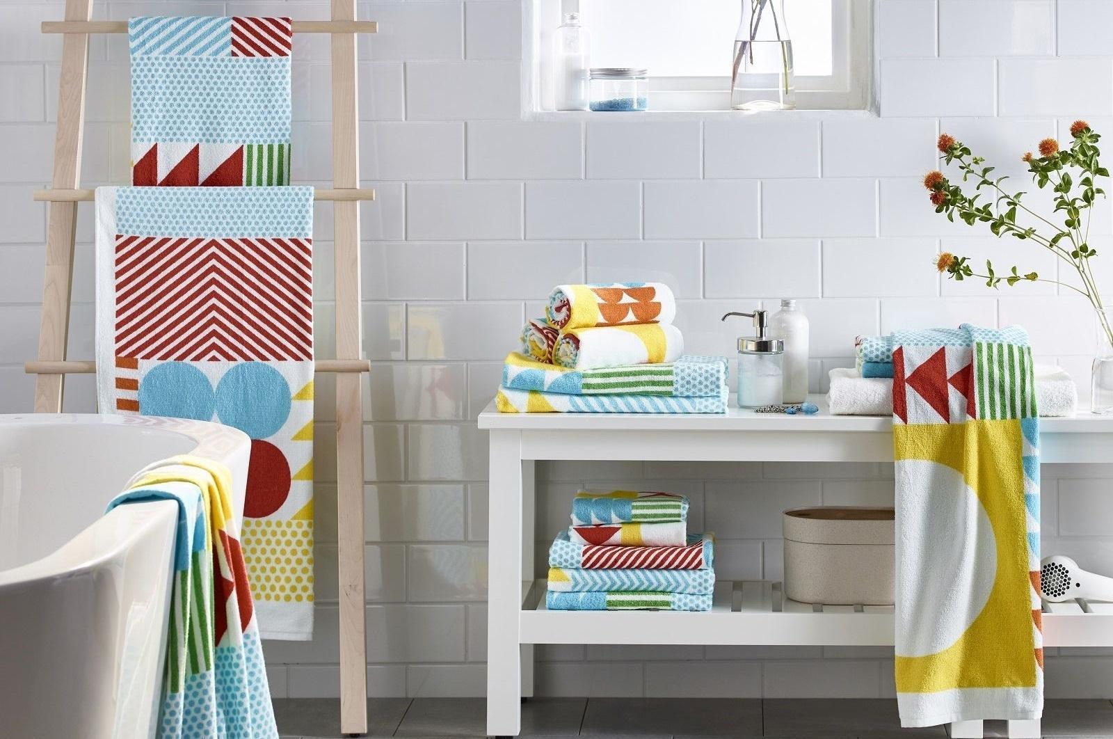 Asciugamani per il bagno, con decori o tinta unita - Cose ...