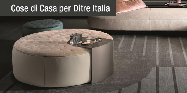 Il pouf diventa protagonista del living. Con Clip Set di Ditre Italia
