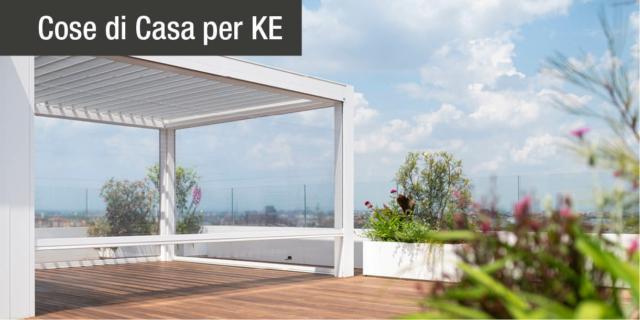 La Pergola Kedry PRIME di KE per lo spazio outdoor di un superattico a CityLife, a Milano