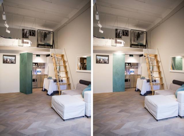 monolocale da un vecchio negozio Solari 40_Milano Abita bagno aperto2