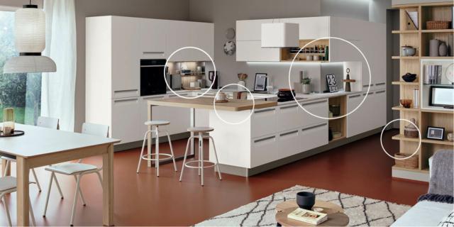 Progettare la cucina: angoli ben risolti nell'open space