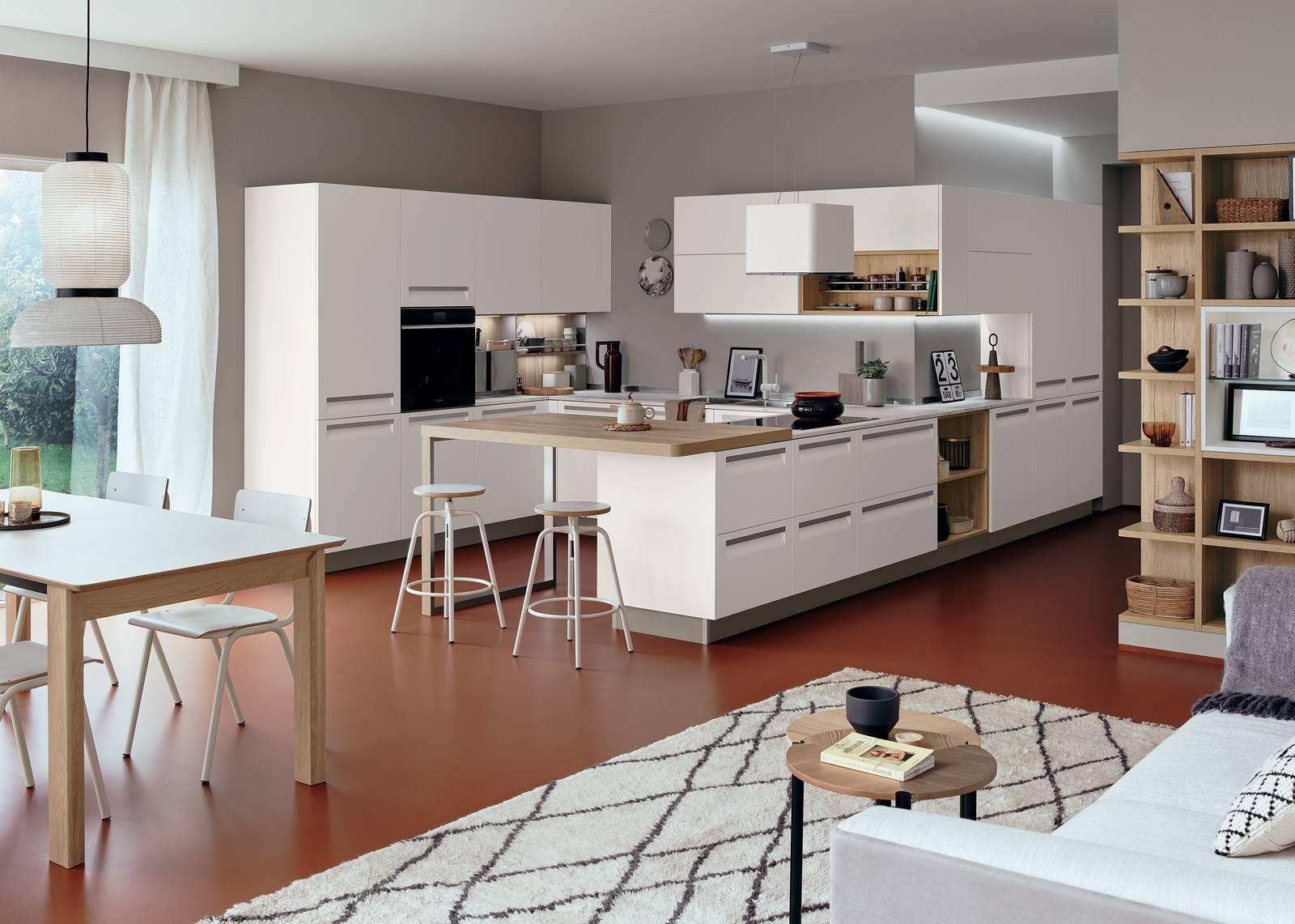 Cucine Open Space Moderne progettare la cucina: angoli ben risolti nell'open space