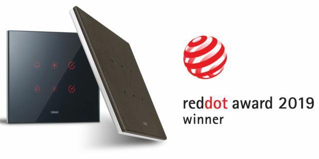 Design di Vimar premiato con il Red Dot Award 2019 per la serie Eikon Tactil