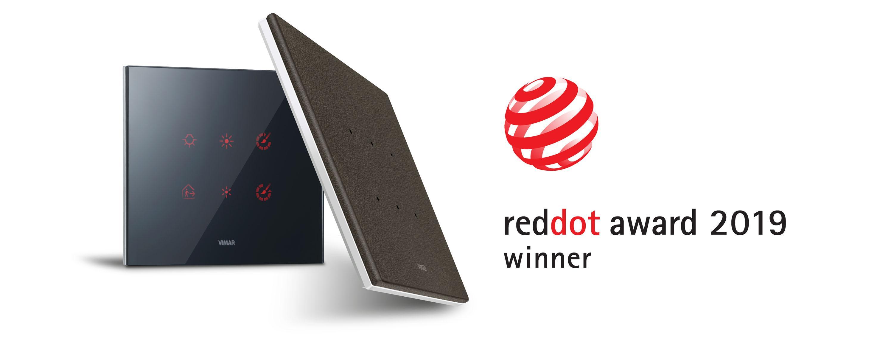 Design di Vimar premiato con il Red Dot Award 2019 per la
