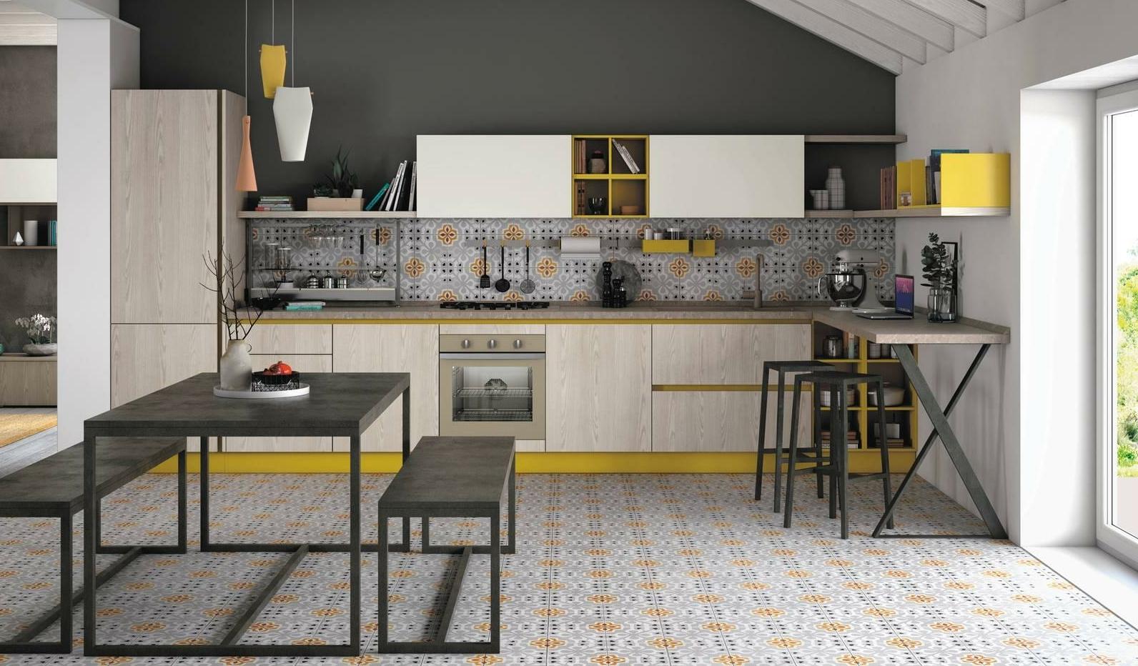 Cucine con dettagli colorati. Foto modelli, descrizioni