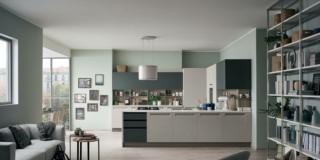 cucine con lavanderia nascosta VenetaCucine_CarreraF1_MaltaCrema&VerdeMuschioPlus_02