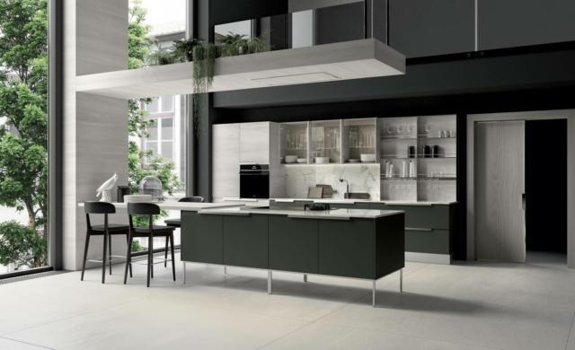 febal casa Chantal - cucina grigia con finiture diverse