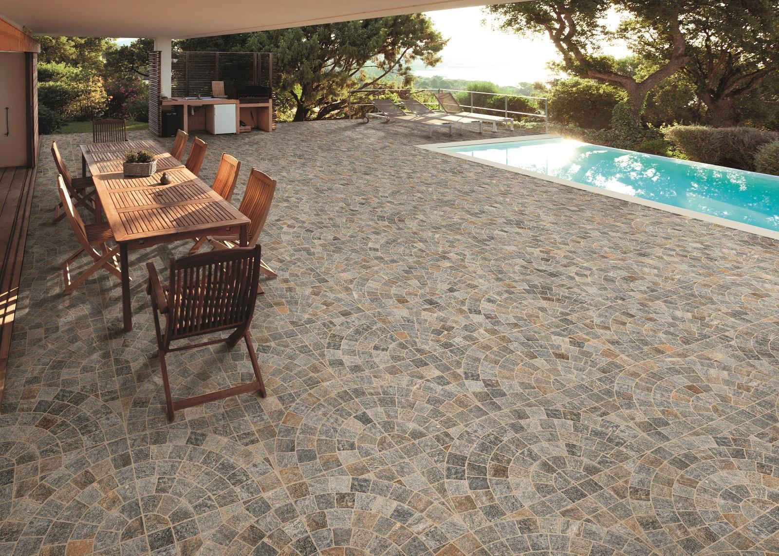 Posa Pavimento A Secco Giardino piastrelle per esterni. in gres e non solo. materiali e foto