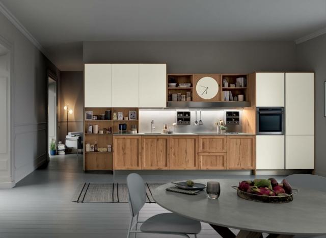 venetaCucine_MilanoRovereNodosoChiaro&BiancoBicocca_01 cucina legno