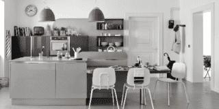 cucina grigia Carrera.GO di Veneta Cucine