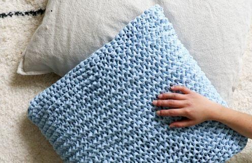 Realizzare un cuscino a maglia
