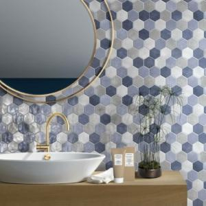 Mosaico esagona mix Blue di CIR