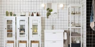 piante adatte al bagno in ambientazione Ikea