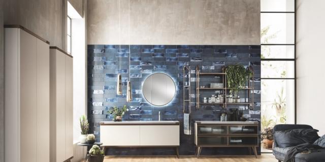 Bagno in stile industriale per una casa total look