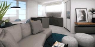 soggiorno e cucina uniti