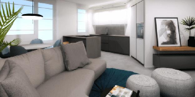 Unire soggiorno e cucina: un progetto in 3D con altri tre ...