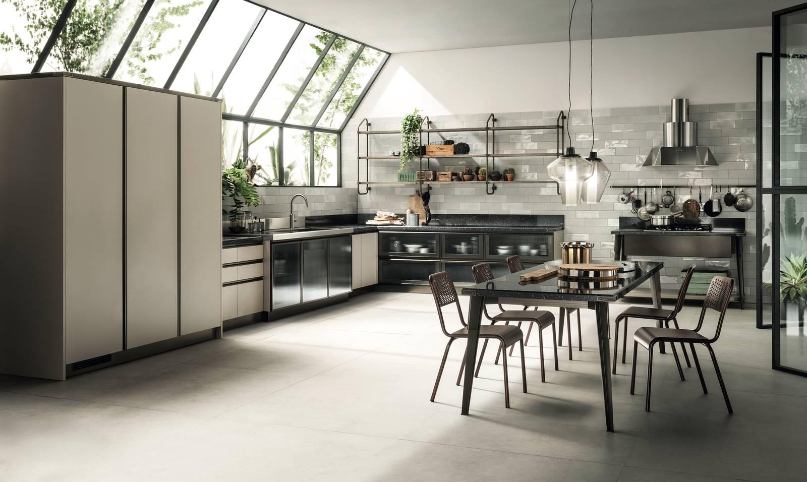 Cucine in stile industrial in legno o laccata