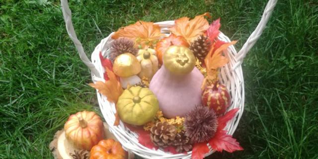 Cesto per Halloween: una decorazione tutta autunnale