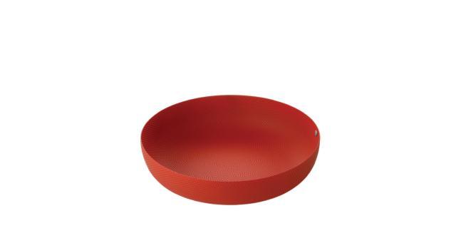 """""""JM17 BT"""" design Jasper Morrison, 2002 Cestino rotondo in acciaio colorato con resina epossidica, colore rosso, con decoro a rilievo."""