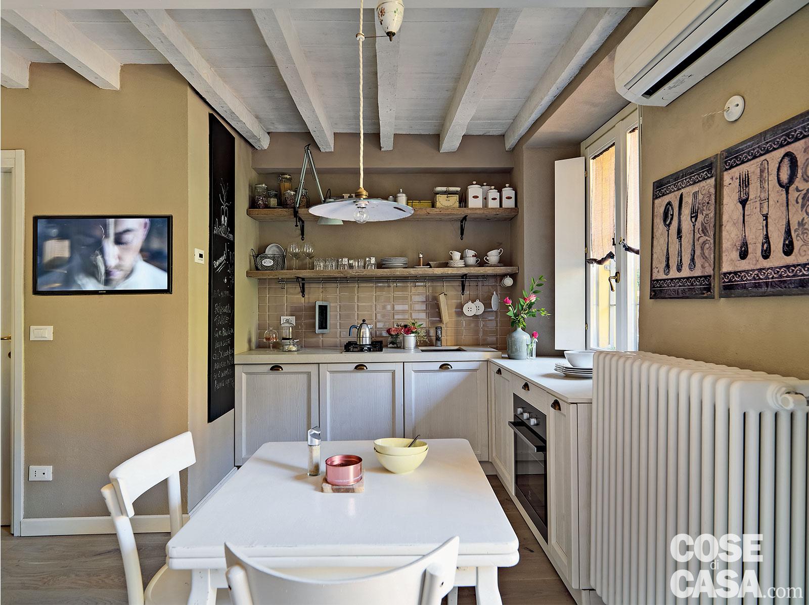 Monolocale Decor 32 Mq In Versione Shabby Chic Cose Di Casa