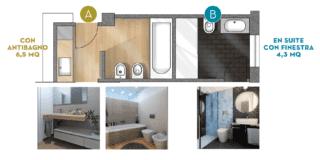 Progetto bagno: da uno ricavarne due