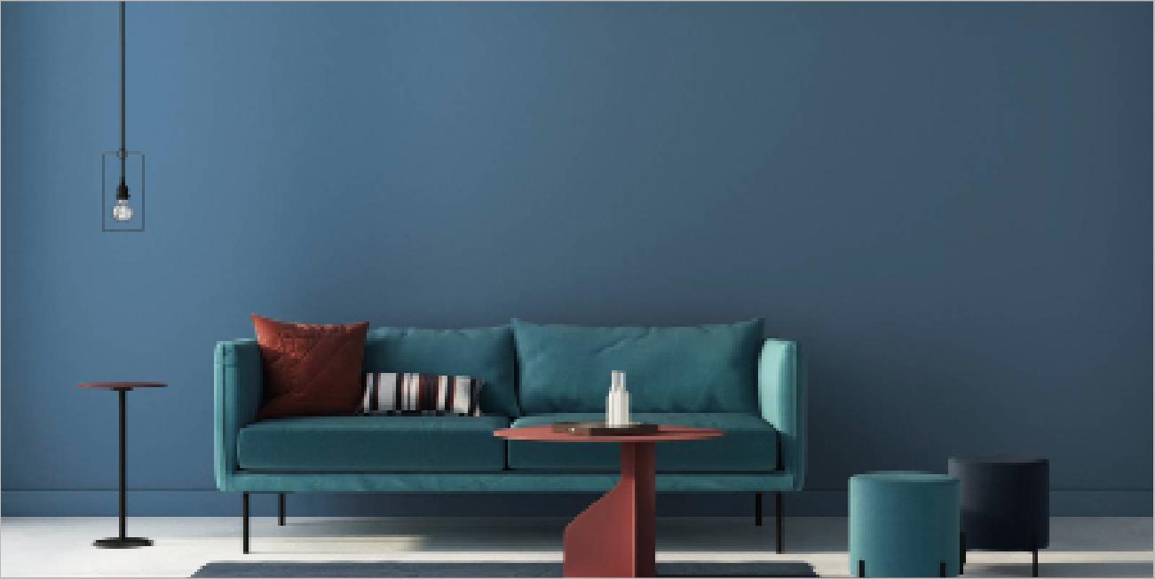 Catalogo Colori Per Pareti dipingere le pareti con il colore dell'anno 2020 blu pantone