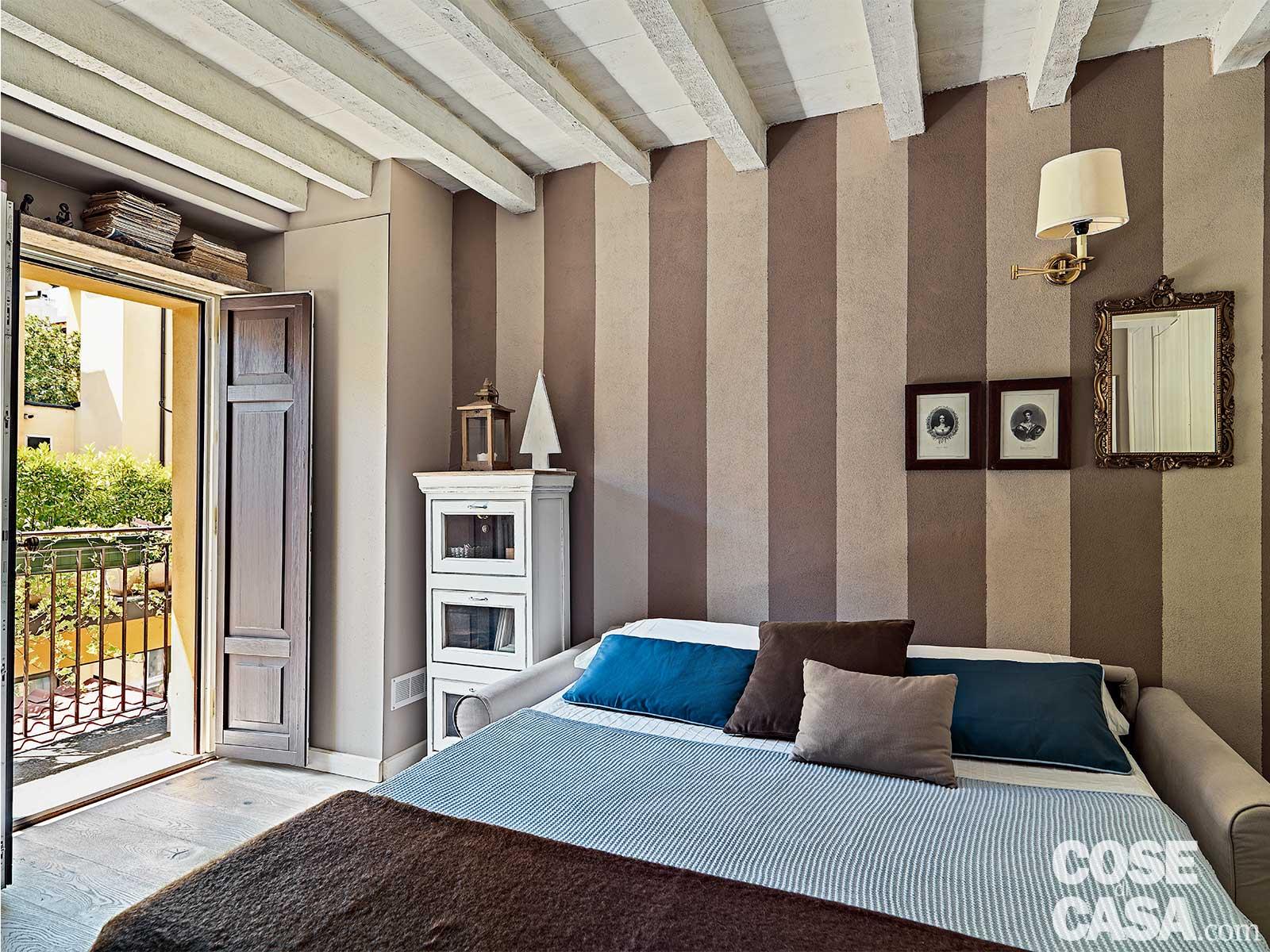 Pareti A Righe Shabby Chic monolocale decor, 32 mq in versione shabby chic - cose di casa