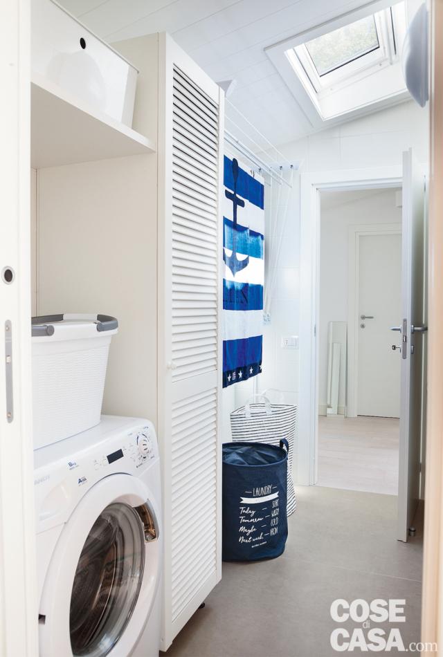 villa al mare, dépendance, lavanderia passante, lavatrice, corridoio, lucernario