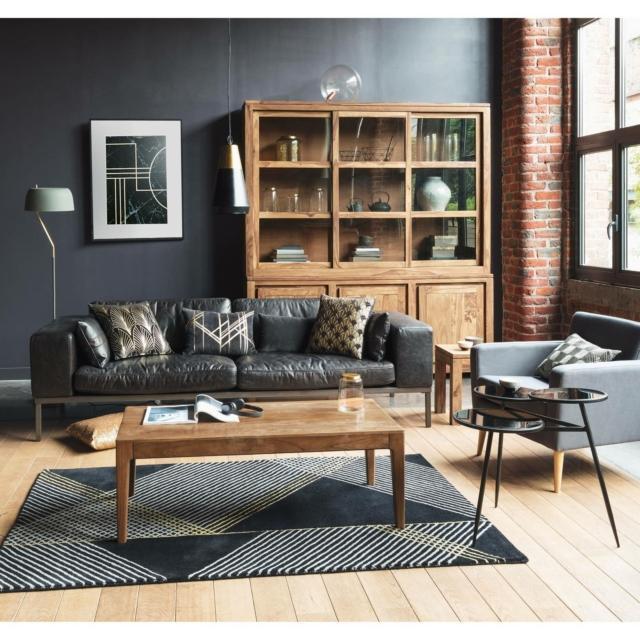 divano in pelle maisons du monde wellington
