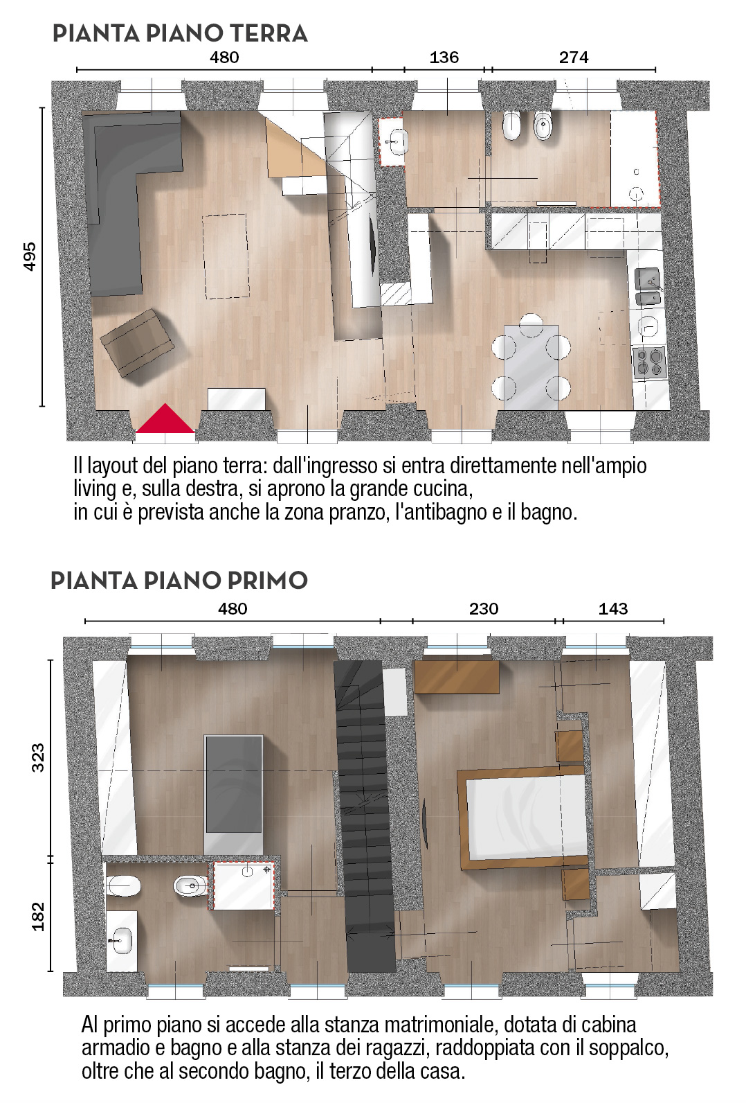Taglio Solaio Per Scala unire due appartamenti e sfruttare il sottotetto: 100 mq su