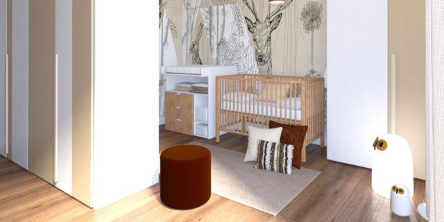 Ricavare in camera uno spazio separato per culla o lettino