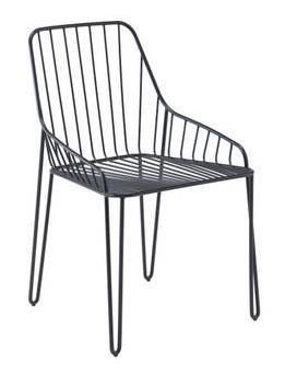 riflessi PIUMA ANTRACITE sedia casa in stile industrial