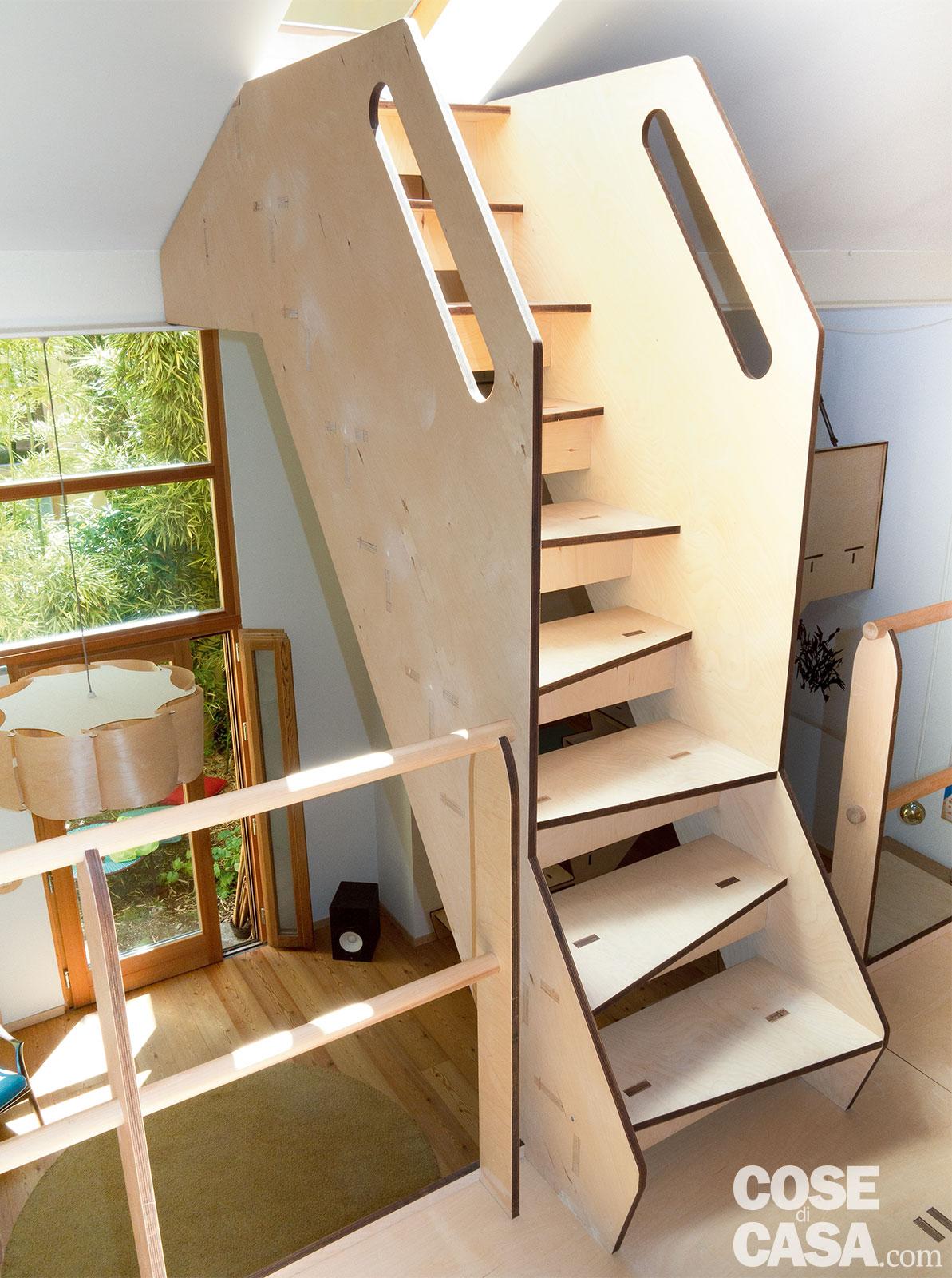 Scala Di Legno Decorativa casa 66 mq + 37 mq di sottotetto con scala che contiene