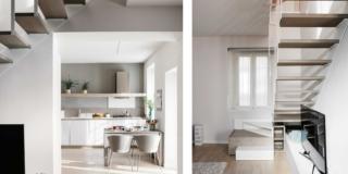 Unire due appartamenti e sfruttare il sottotetto: 100 mq su due livelli più uno