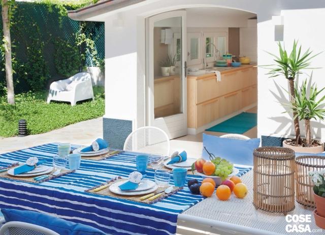 villa al mare, dépendance, zona pranzo outdoor, portafinestra, cucina, giardino