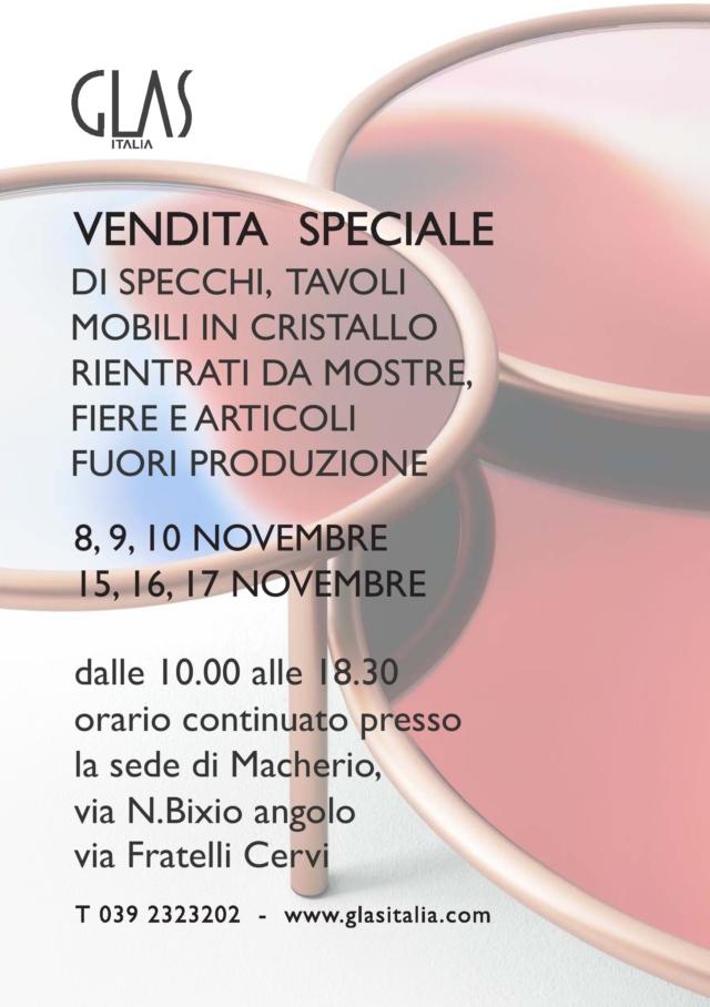 GLAS ITALIA vendita speciale 2019