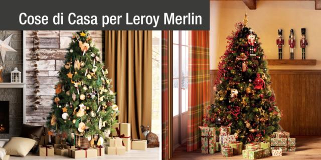 Decorazioni di Natale in due stili diversi