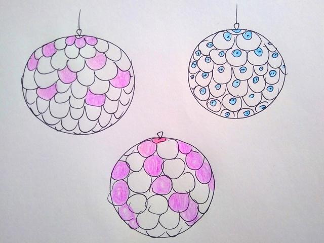 disegni per palline fai da te per l'albero