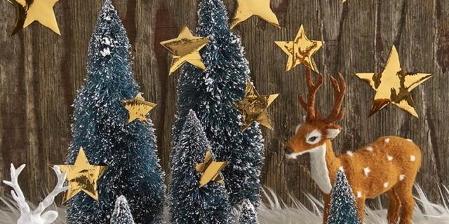 Stelline adesive fai da te per il paesaggio di Natale