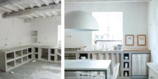 La cucina in muratura: una soluzione unica, su disegno, diversa da tutte le altre