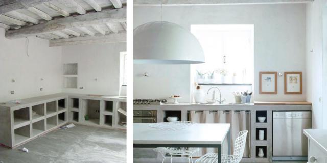 La cucina in muratura: una soluzione unica, su disegno ...