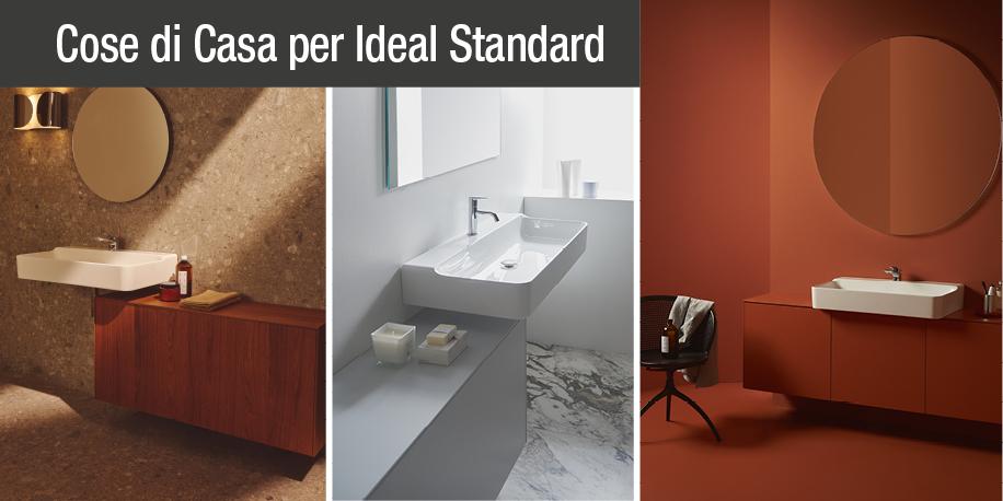 Mobili bagno e lavabi conca di ideal standard una collezione con tantissime composizioni - Lavabi bagno ideal standard ...