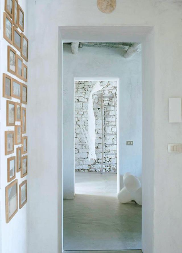 passaggio e parete in pietra